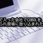 新卒で入った会社でCOBOLを教えられ現場に放り込まれた体験